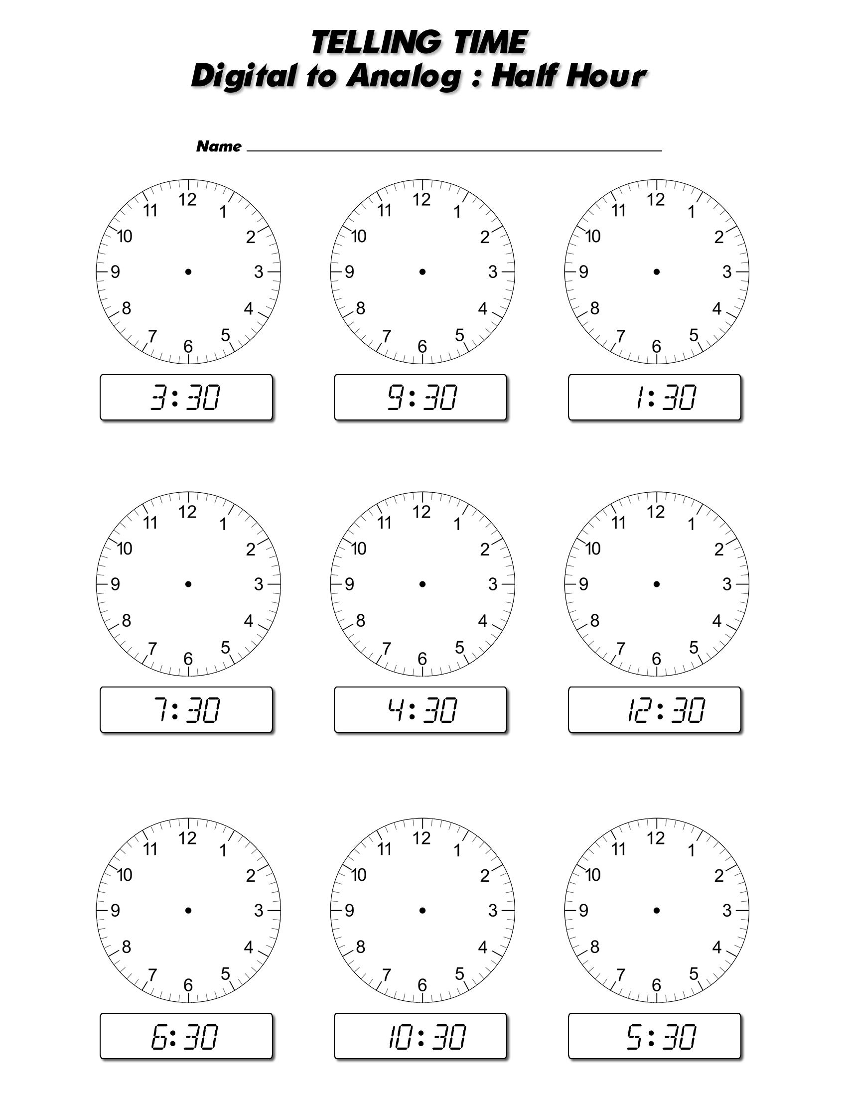 Worksheets On Telling Time To The Half Hour The Best and Most – Time to the Hour Worksheets